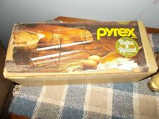 VINTAGE PYREX BAKE A ROUND 990/HEAT RESISTANT GLASS FOR BREAD LOAF BAKING