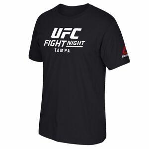 UFC Reebok Black Fight Night @ Tampa Event Graphic Print T-Shirt