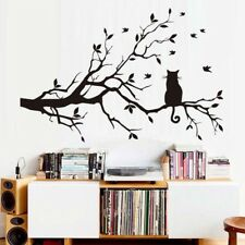 Cat On The Tree Branch Wall Sticker Removable Art Mural Room Home Decor Decals o