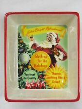 "Coca-Cola Ceramic Santa Dish ""Extra-Bright"" - NEW"
