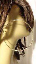 100mm HOOP EARRINGS BIG CIRCLE HOOP EARRINGS GOLD OR SILVER TONE CLASSIC HOOPS
