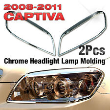 Chrome Head light Lamp Molding Cover Garnish For CHEVROLT 2006-2010 2011 Captiva