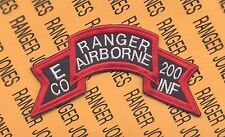 E Co AIRBORNE RANGER 200th Inf Regt LRRP LRP Alabama ARNG scroll patch