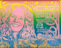 Big Brother and the Holding Company with Janis Joplin A2 Quality Canvas Print