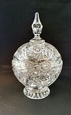 """Cut Crystal Candy Dish-Large Piece-Mid Century From Poland-10"""" x 6+"""""""
