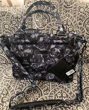 Nwt Ju-Ju-Be Onyx Collection Be Classy Diaper Bag Black Petals Rose Changing Pad