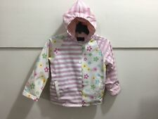 Toddler girls size 5 adorable pastel colored lined hooded rain coat
