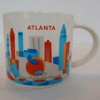 Starbucks Atlanta Mug You Are Here Coffee Cup 2016 With Box 14 oz Ceramic YAH