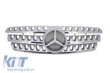 Griglia centrale Mercedes Benz ML W163 1998-2005 AMG Look argento