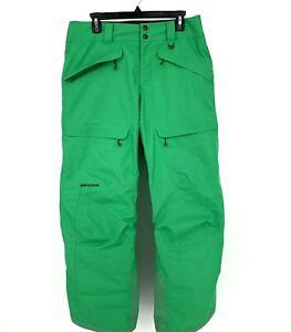 Patagonia Snowshot Pants Men's h2no Ski Snow Green sz Medium Waterproof Gaiters