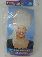 Marie Antoinette Platinum Blonde White Powder Victorian Womens Costume Wig VTG