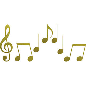 Set S Noten gold Violinschlüssel Notenschlüssel Musik Auto Deko Aufkleber Tattoo