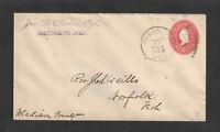 1903 JNO G SPENCER RGT RANDOLPH NEBR ADVERTISING COVER US STAMPED ENVELOPE