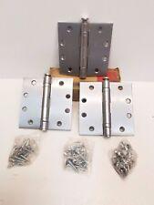 "Set of 3 Hager Full Mortise Standard Door Hinge Steel Finish 4.5"" x 4.5"" HN1016"