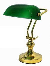 Lampada da tavolo Churchill ufficio ministero inglese in ottone tegola verde
