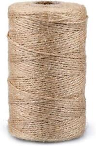 200M 2 Ply Natural Brown Jute Garden Twine String Thin Craft Gift Cord
