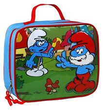 OFFICIAL THE SMURFS EMBOSSED INSULATED LUNCH BAG BOX NEW WITH TAGS