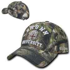 Brown University Bears Camo Cotton Adjust Realtree Polo Style Baseball Cap Hat