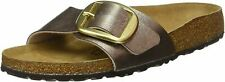 Birkenstock Madrid Big Buckle Narrow Graceful Taupe Leather Womens Sandals
