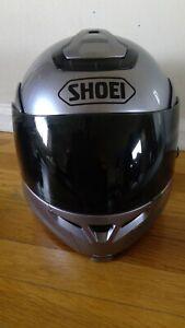SHOEI Multitec silver helmet size medium M