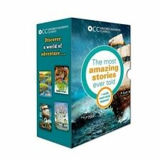 Oxford Children's Classics World of Adventure Box Set by Mark Twain, Rudyard Kipling, Robert Louis Stevenson, Kenneth Grahame (Paperback, 2014)