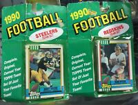 1990 Topps Steelers & Redskns Team Sets