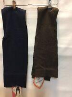 Sofra 2 Pair Women's Fleece Lined Leggings One Size Blue Brown NWT