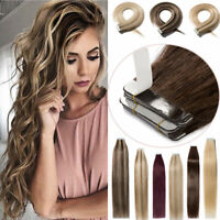8A Tape In Skin Weft  Ombre 100% Remy Human Hair Extensions 16-26Inch 30-70g