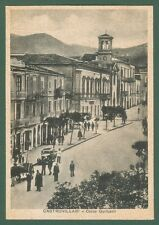Calabria. CASTROVILLARI, Cosenza. Corso Garibaldi. Cartolina viaggiata nel 1937