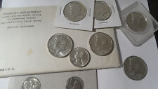 Large Lot Of UNC & Better Grade US Silver Coins Incl Official 1964 US Mint Set!