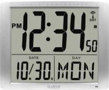 Digital Wall Clock Square Jumbo Lcd Display Self Sitting Digital Date Display