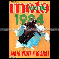 MOTO VERTE N°120 YAMAHA 125 TY DTMX XT 500 600 TT TENERE FANTIC 125 RAIDER 1984