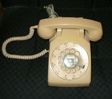 VINTAGE, STROMBERG-CARLSON, BEIGE/SAND ROTARY DIAL DESK PHONE TELEPHONE
