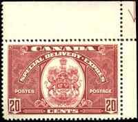 Canada #E8 mint VF OG DG 1938 Special Delivery 20c dark carmine CV$50.00