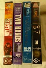 VHS Lot of 4 Large Case Titles: 3000 Miles to Graceland, Two Hands, 187 ++