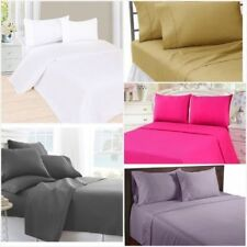 1200 bedsheet Queen 4 piece sheet set extra soft deep pocket wrinkle free