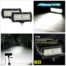2 Pcs 6.5'' Quad Row CREE LED White 288W Car SUV Working Lights Spot Beam Lamps