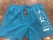 logo lettering pattern Hugo Boss Acklins men/'s swim shorts