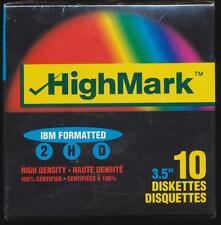 "HighMark 10 Floppy Diskette 2HD High Density IBM Formatted 3.5"" New in box"
