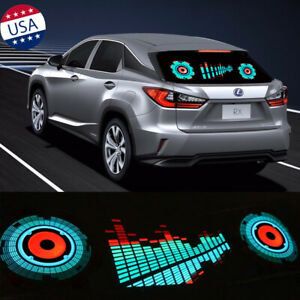 Car Sound Music LED Flash Light Rhythm Activated Equalizer Sticker Sensor Lamp