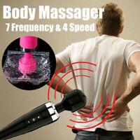 Unisex Powerful Handheld Electric Wand Massager Body Deep Tissue Soft Massage