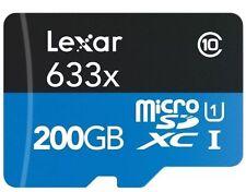 Lexar 200GB 633x High Performance Micro SDXC TF UHS-I U1 Memory Card - 95MB/s