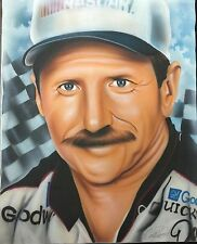 Dale Earnhardt On Canvas Nascar #3