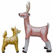 2 Inflatable Deer Reindeer Animal Party Decor Collection Yard Outdoor Indoor