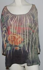 Susan Lawrence Shirt 3/4 Sleeve Blouse Womens Plus Size 1X Clothing Top