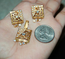 22K Solid Yellow Gold Pendant Earrings Set 5.3grams 22KT Pure ** 3 PIECE SET**