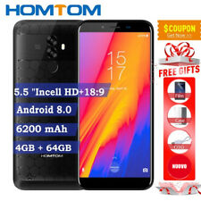 6200mA Lte 4G 5.5''HOMTOM S99 64GB Android 8.0 2SIM Handy Android 8 Ohne Vertrag