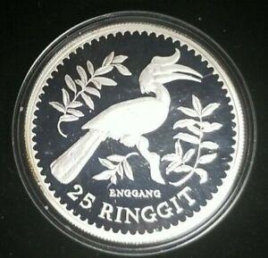 1976 25 Ringgit Malaysia Silver Proof