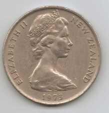 Nueva Zelanda - 20 Centavos-Cobre-Níquel Elizabeth II 1973 – 11.31 G – Ø 28.58 mm