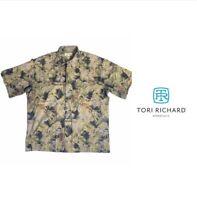 Tori Richard Honolulu Mens Sz 2XL Shirt Hawaiian Floral Button Down Short Sleeve
